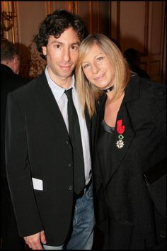 Barbra Streisand and son Jason Barbra Streisand is made Officer of the Legion of Honor by Nicolas Sarkozy the newly elected president Barbra...