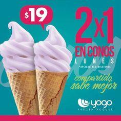 Hoy es #lunes al 2x1.¡Sólo en #yogo!