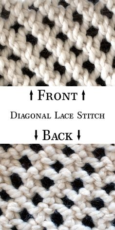 How to knit the Diagonal Lace Knit Stitch {with video}!