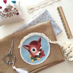 Cross stitch bambi