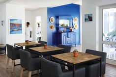 Hues of blues and friendly staff will welcome you at One Marine Drive Boutique Hotel. The perfect fit for a romantic away or a dreamy with staff that will go the extra mile for you. Nook And Cranny, Luxury Accommodation, Whale Watching, Trendy Colors, A Boutique, Perfect Fit, Dining Table, Extra Mile, Colours