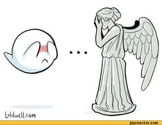 funny pictures,doctor-who,auto  THIS IS THE MOST ADORABLE THING I HAVE EVER SEEN!! (Considering I'm deathly afraid of Weeping Angels)
