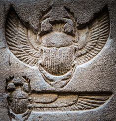 Winged ScarabsSunken reliefs depicting winged scarabs, detail of a wall carving in the Temple of Horus at Edfu. Egyptian Symbols, Ancient Egyptian Art, Ancient Ruins, Ancient Artifacts, Ancient History, European History, Ancient Greece, American History, Egyptian Queen