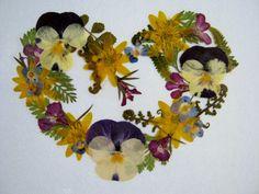 Pressed Flower Heart
