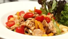 Roasted Red Pepper and Chicken Salad Recipe