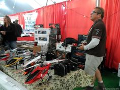 RC Helicopters flying high in the Big Tent