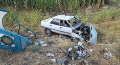 DİYARBAKIR - Bismil'de bir otomobilin direksiyon hakimiyetini kaybederek otobüs durağına çarpması sonucu bir kişi yaralandı.   Kaza, D...