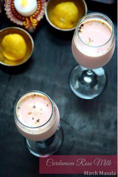 Cardamom Rose Milk - Mirch Masala