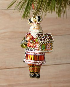 Candy+Cottage+Santa+Ornament+by+MacKenzie-Childs+at+Neiman+Marcus.