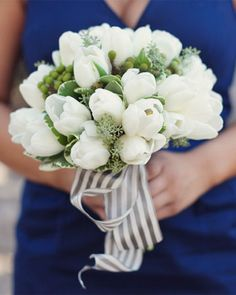 i like this one for you that Nat pinned : ) white tulip bouquet