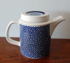 Arabia Finland Faenza Blue Coffee Pot Peter Winquist by alamodern, $75.00