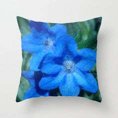 Pillow Cover 16 Square with a Photo of a Blue Shimmery by JDLord, $29.99