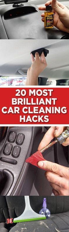 DIY  Cars Hacks :   Illustration   Description   20 Most Brilliant Car Cleaning Hacks