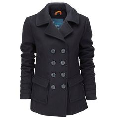 Superdry Liberty bell peacoat found on Polyvore