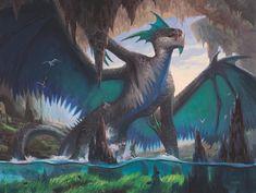 Fantasy World, Fantasy Art, Fantasy Dragon, Dragons, Fantasy Beasts, Dragon Artwork, Card Drawing, Dragon Rider, Image Painting
