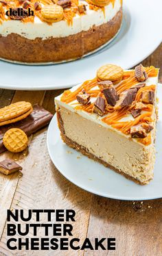 Make This Nutter Butter Cheesecake For The PB Lover In Your Life. Uses Nutter-butter Cookies & Heath Bars; by Delish Delish Nutter Butter, Mini Cakes, Cupcake Cakes, Cupcakes, Bundt Cakes, Cheesecake Recipes, Dessert Recipes, Dessert Ideas, Just Desserts