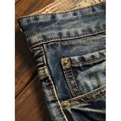 Five-Pocket Zipper Fly Straight Leg Frayed Ripped Jeans - 34 34 Grey Skinny Jeans, Dark Jeans, Ripped Jeans, Jeans Pants, Denim Jeans, Cheap Jeans, Destroyed Jeans, Long Pants, Jeans For Sale