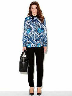 Mary Portas Moro tile print bib shirt