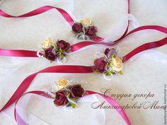 """Купить Браслет для подружек невесты """"Марсала"""" - бордовый, браслет для мужчины, для подружек невесты, для подружки невесты"""