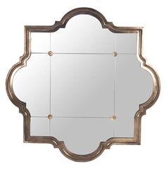 Marissa Quatrefoil Antique Bronze Large Mirror | Kathy Kuo Home