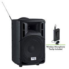 Oklahoma Sound Pro Audio Bluetooth Wireless Portable PA System with Wireless Tie-Clip Microphone - Wireless Speakers, Bluetooth, Built In Speakers, Oklahoma, Smartphone, Usb, Tie Clip, Auditorium, Control Panel