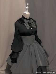 Pre-order Evening Prayer Accordion Cuff Blouse by Chronos's Temple Cosplay Outfits, Edgy Outfits, Mode Outfits, Pretty Outfits, Pretty Dresses, Beautiful Dresses, Scene Outfits, Gothic Lolita Fashion, Victorian Fashion