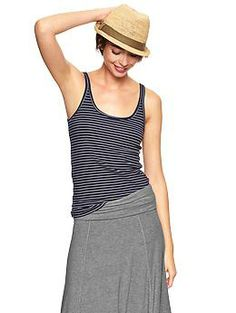Essential mini-stripe cami - Easy & lightweight—the perfect fitting everyday tee just got softer.