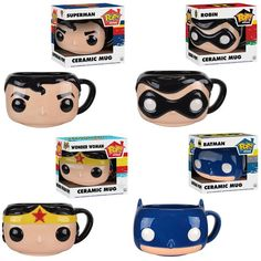 DC Funko Pop! Mugs Bring Batman, Robin, Superman & Wonder Woman Legendary Heroes To Breakfast -  #batman #dc #funko #superman
