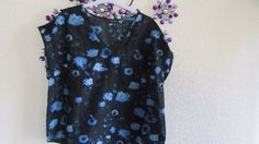 Short Sleeves, Satin  Feel  black floral,  Size 18  #Atmosphere #OtherTops…