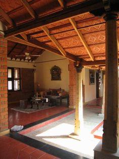 Centre for Vernacular Architecture Trust :: Gallery Old House Design, Village House Design, Kerala House Design, Village Houses, Kerala Traditional House, Traditional House Plans, Traditional Homes, Courtyard House Plans, Courtyard Design