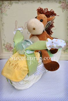 Sweetaprils: { My first Motorcycle Diaper Cakes }