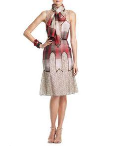Sleeveless Chiffon & Lace Dress by Carolina Herrera at Neiman Marcus.
