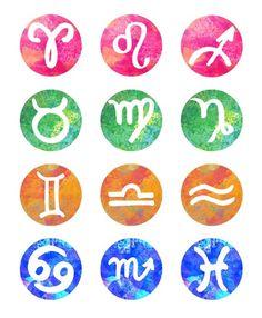 Zodiac signs ~ fire, earth, air & water