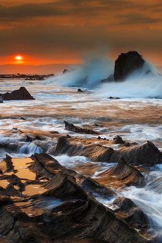 Sunrise at Sawarna, Indonesia  ( by Bobby Bong on 500px )