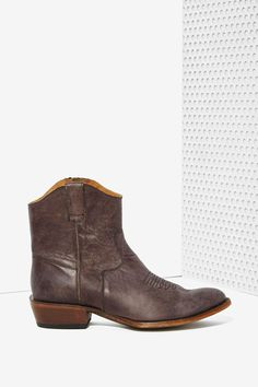 Nasty Gal Fox Fire Leather Cowboy Boots