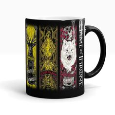 Game of Thrones Right Coffee Mug Color Change Cup Funny Printed Cups and Mugs Ceramic Drinkware With Gift Box Game Of Thrones Gifts, Game Of Thrones Houses, Game Of Thrones Fans, Game Of Thrones Merchandise, Funny Prints, Fire And Ice, Tea Mugs, Mug Cup, Drinkware
