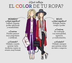 El color de tu ropa pude decir mucho sobre tu personalidad. Descubre lo que tu ropa dice de ti.