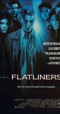 """Directed by Joel Schumacher. With Kiefer Sutherland, Kevin Bacon, Julia Roberts, William Baldwin. Five medical students experiment with """"near death"""" experiences, until the dark consequences of past tragedies begin to jeopardize their lives."""
