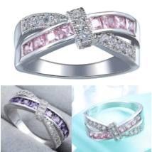 Ezüst Ametiszt köves gyűrű