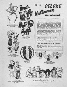 A 1958 – 1959 Beistle Company Halloween Catalog! Beistle Halloween, Retro Halloween, Halloween Drawings, Halloween Books, Halloween Horror, Halloween Night, Halloween Designs, Halloween Trees, Halloween 2018