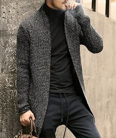 Mens fashion sweaters, men sweater и mens fashion:__cat__ . Cardigan Outfits, Cardigan Fashion, Men's Outfits, Mohair Sweater, Men Sweater, Men Cardigan, Knitted Coat, Mens Fashion Sweaters, Stylish Mens Fashion
