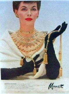 How glamorous is the Monet vintage jewelry ad from We think this will be our inspiration for the next girl's night out! Jewellery Advertising, Jewelry Ads, Custom Jewelry, Jewelry Accessories, Fashion Jewelry, Key Jewelry, Retro Advertising, Rock Jewelry, Hippie Jewelry