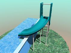 Attractive Above Ground Pool Slide