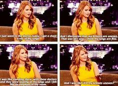 LOL it's probably exactly what I would be thinking. Love her!