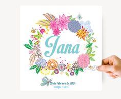 Lámina floral  con nombre personalizado para por thecreativegarage, €25.00