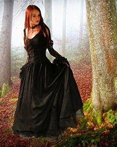 Dark Dreams Gothic Mittelalter LARP Kleid Melinda: Amazon.de: Bekleidung