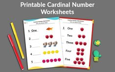 Printable Cardinal Numbers English Worksheets for your Child Months) - Ira Parenting Number Words Worksheets, Preschool Number Worksheets, Beginning Sounds Worksheets, English Worksheets For Kindergarten, Preschool Math Games, Numbers Preschool, 1st Grade Worksheets, Handwriting Worksheets, Kindergarten Learning