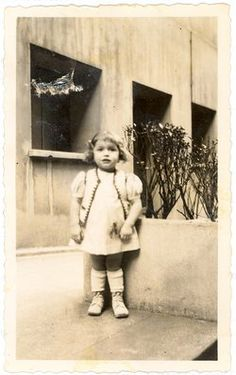 Such a little darling. Arlette Cendrowicz an early photo taken in Saint Ouen, France in 1940 of Arlette at age 4. Arlette was murdered in Auschwitz a couple years later at age 6.