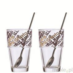 Zestaw 2 szklanek do latte z łyżecz kami Solo