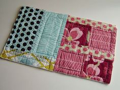 A quilt as you go method which gives a flat finish and looks great on the front...I want to try this one.